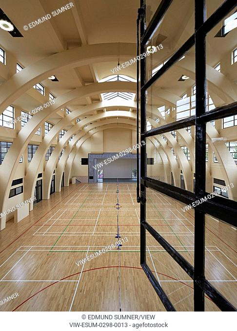 The Grade II listed Poplar Baths in London's East End, on the English Heritage 'Buildings at Risk' List before the project comme