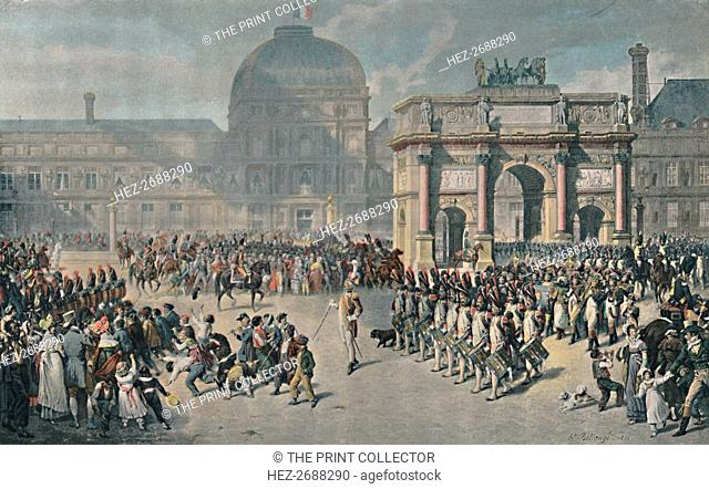 'A Day of Review Under The Empire, Place Du Carrousel', 1810, (1896). Artist: Unknown