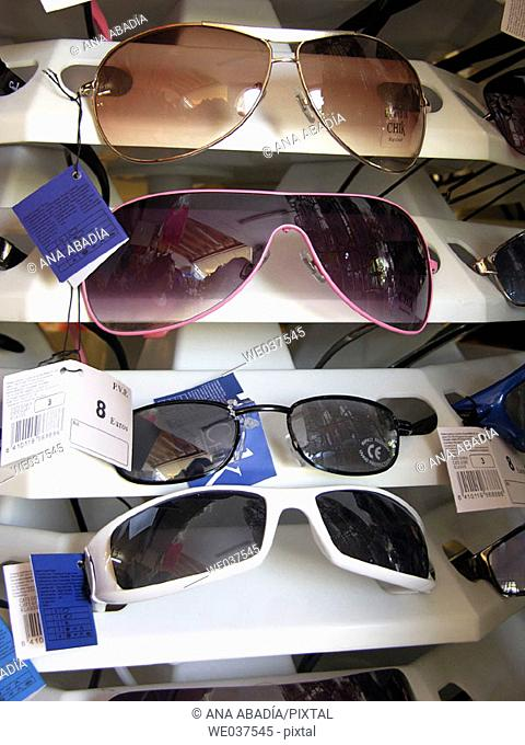 Sunglasses for sale. Majorca, Balearic Islands, Spain