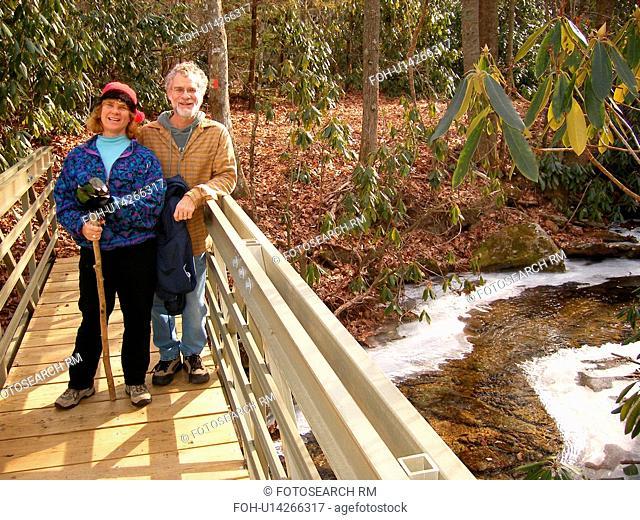 hiking, Fisher Peak Loop Trail, Blue Ridge Parkway, Galax, Virginia, VA