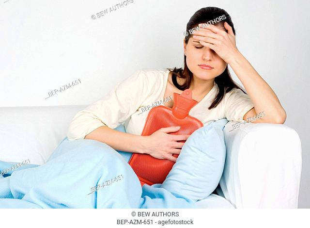 Woman having cold