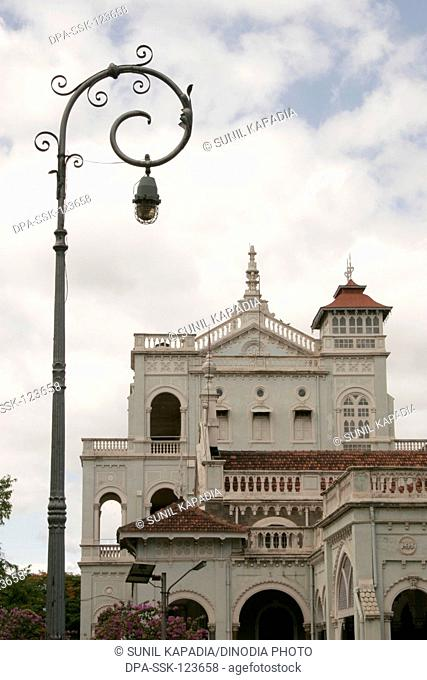 Unique architecture of Aga Khan palace built in 1892 by Sultan Mohamed Shah;  Pune ; Maharashtra ; India