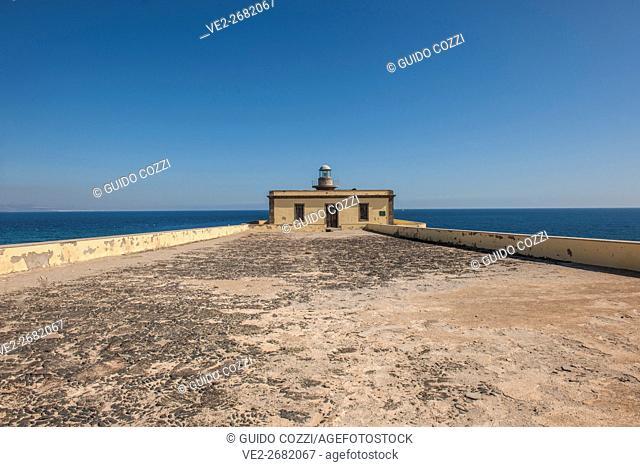 Spain, Canary Islands, Fuerteventura, Isla de Lobos, San Martino lighthouse