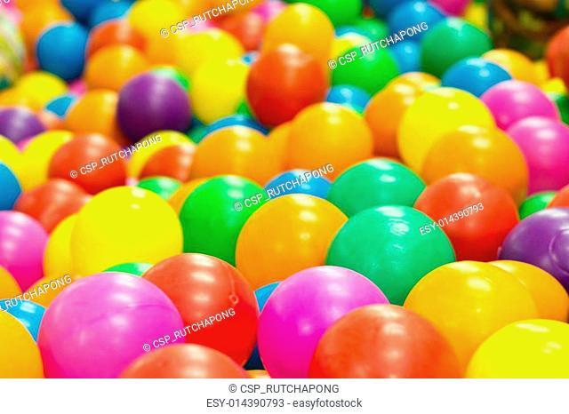 Colorful plastic balls