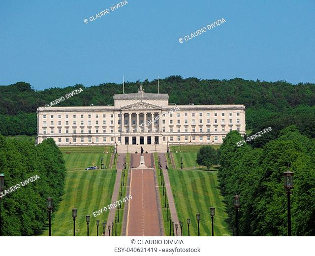 Parliament Buildings (aka as Stormont) in Belfast, UK