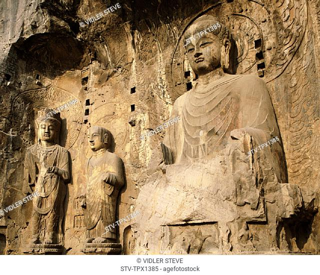 Ancestor, Asia, Buddhist, Caves, China, Henan, Heritage, Holiday, Landmark, Longmen, Luoyang, Province, Tang dynasty, Temple, To