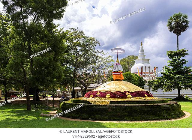 Padalanchana Chethiya Stupa at Thuparama Dagoba, Sacred City of Anuradhapura, North Central Province, Sri Lanka, Asia