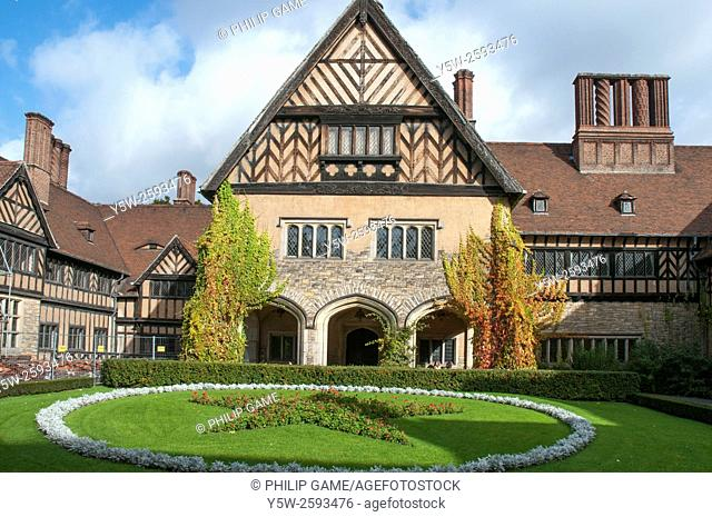 Schloss Cecilienhof, a Hohenzollern palace which become the venue for the post-war Potsdam Conference, Germany