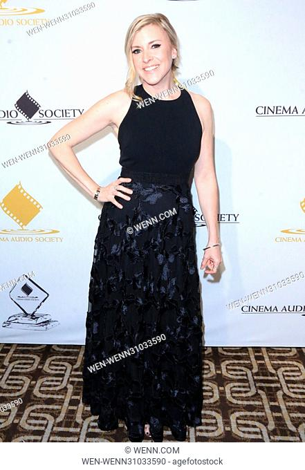 53rd Annual Cinema Audio Society (CAS) Awards at Omni Los Angeles Hotel at California Plaza - Arrivals Featuring: Hillary Hickman Where: Los Angeles, California