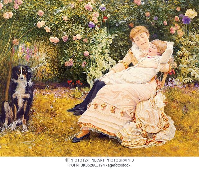 Edward Killingworth Johnson (1825-1923) English school A Summer's Day 19th century England, Bourne Gallery