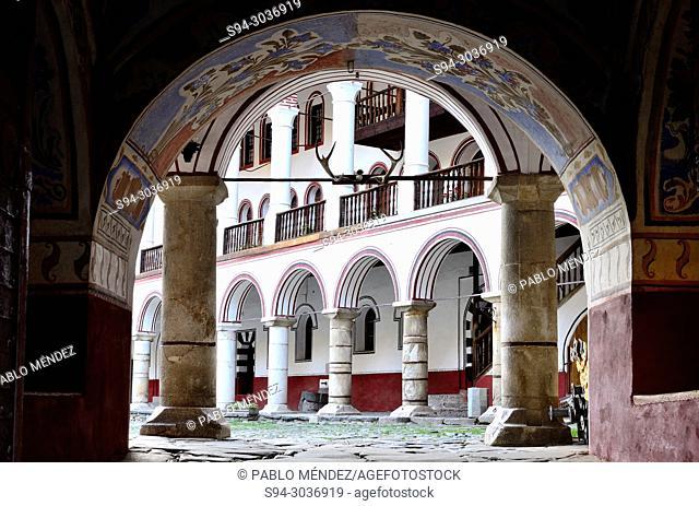 East entry to Rila monastery, Bulgaria