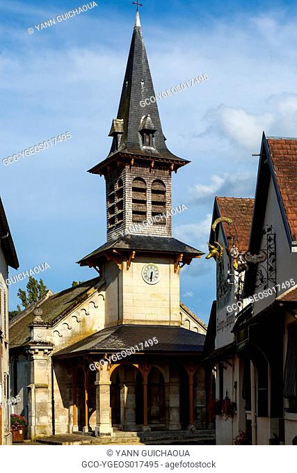 The church at Vieux Moulin, Forest of Compiegne, Oise,Picardy, France