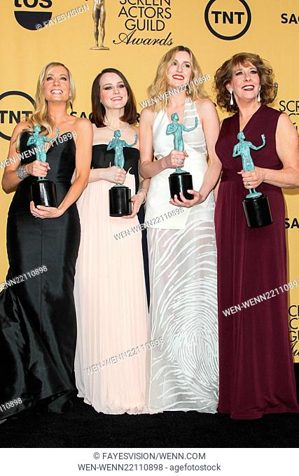 21st Annual SAG Awards - Press Room at the Shrine Auditorium Featuring: Joanne Froggatt, Sophie McShera, Laura Carmichael, Phyllis Logan Where: Los Angeles
