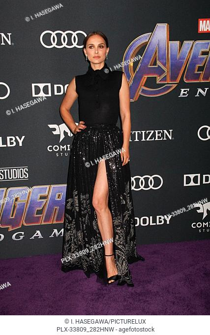 """Natalie Portman 04/22/2019 The world premiere of Marvel Studios' """"""""Avengers: Endgame"""""""" held at The Los Angeles Convention Center in Los Angeles, CA"""