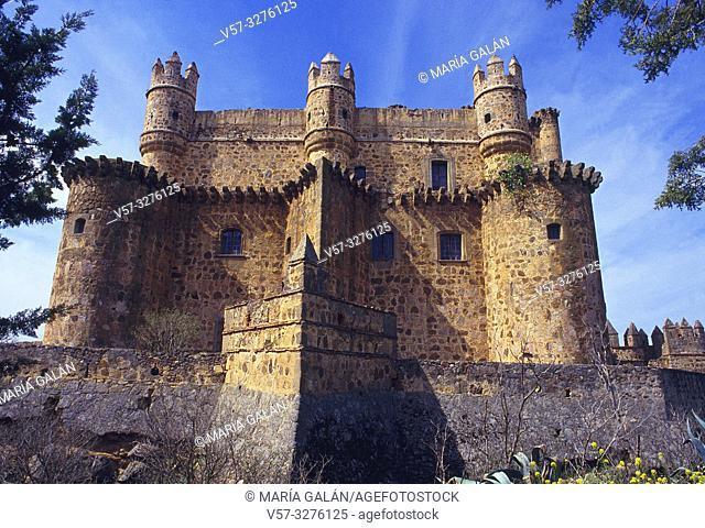 Facade of the castle. Guadamur, Toledo province, Castilla La Mancha, Spain