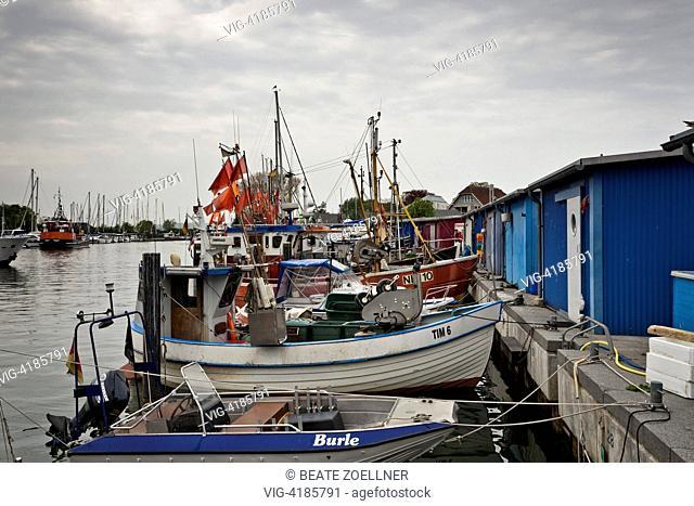 Boats in the harbor of Niendorf / Baltic Sea - Niendorf/Ostsee, Schleswig-Holstein, Germany, 20/05/2013