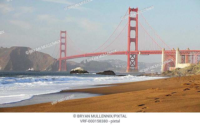View of the Golden Gate Bridge from Harris Beach