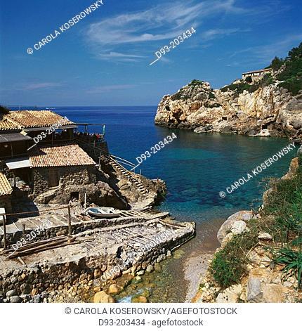 Restaurant. Cala Deià. Mallorca. Balearic Islands. Spain