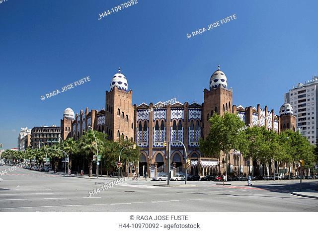 Avenue, Bullfighting, architecture, Barcelona, Catalonia, gran via, monumental, Moorish, skyline, Spain, Europe, touristic, travel