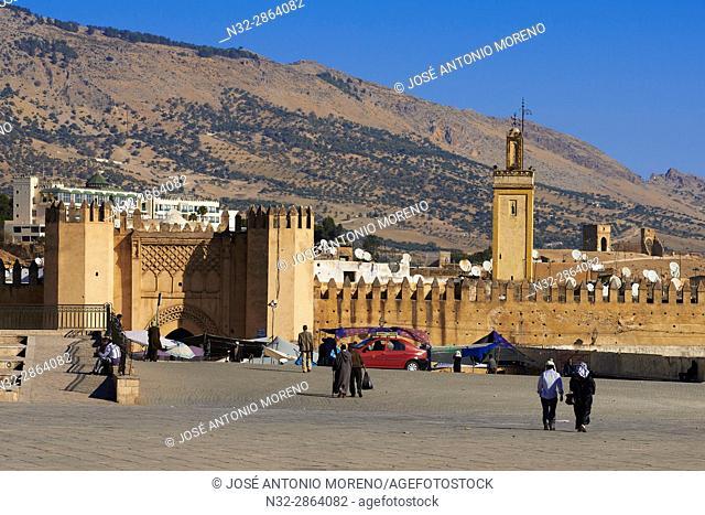 Fez, Pacha el Baghdadi Square, Place Pacha el Baghdadi, Bab ech Chorfa Gate, Fez El-Bali, Fes, Morocco, Maghreb, North Africa