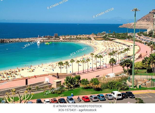 Amadores beach in Gran Canaria, Canary Islands, Spain