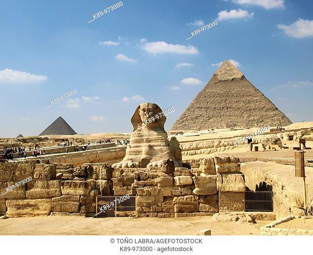 Esfinge, Pirámides Giza, El Cairo, Egipto