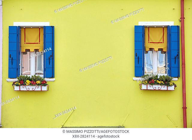 Detail of a house in Burano, Venice, Italy