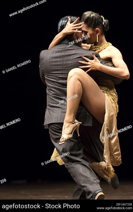 Group and couple dance contest. . International Tango Festival organized by the Mayor's Office of Medellin