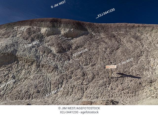 Hanksville, Utah - A sign warns of danger in the Utah desert