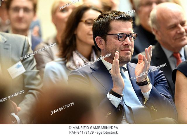 Former German Minister and chairman and founder of Spitzberg Partners, Karl Theodor zu Guttenberg, attends the conference 'Denk ich an Deutschland