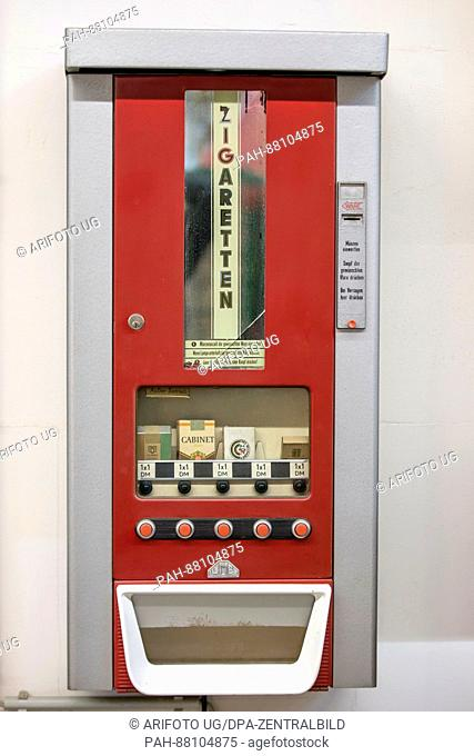 A historical cigarette machine at the wholesaler Tabacon in Ronneburg, Germany, 11 January 2017. The wholesale market in German turns over more than a billion...