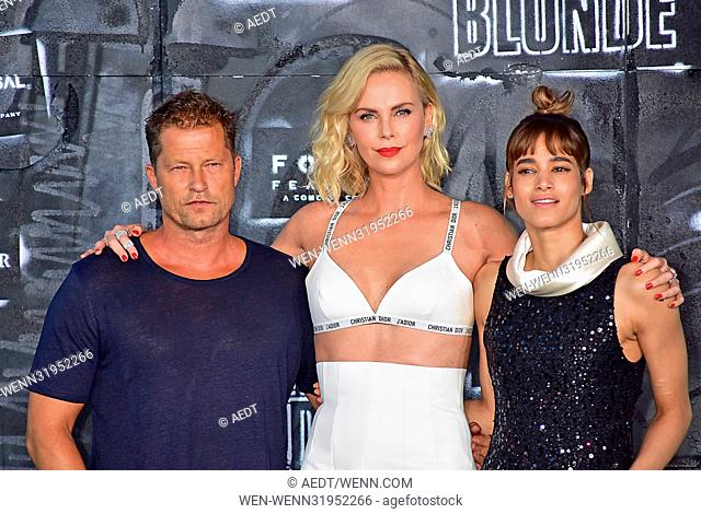 World premiere Atomic Blonde at Theater am Potsdamer Platz. Featuring: Til Schweiger, Charlize Theron, Sofia Boutella Where: Berlin