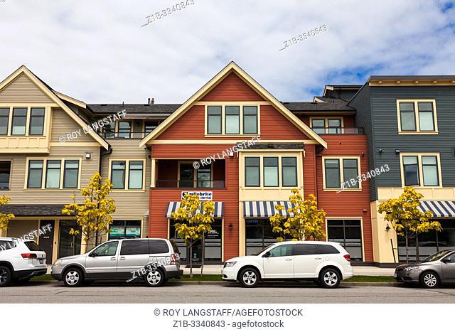 New architecture along Chatham Street in Steveston British Columbia Canada