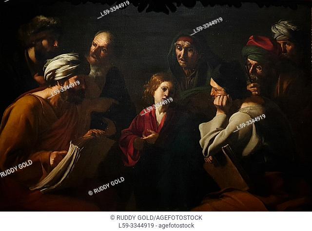 'Christ among the Doctors', 1618, Bartolomeo Manfredi (1582-1622)