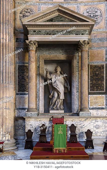 St. Anastasius Statue, Pantheon, Rome, Italy