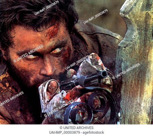 Django, (DJANGO) SP 1966, Regie: Sergio Corbucci, FRANCO NERO, Stichwort: Waffe , Revolver, Hinterhalt, Verletzung