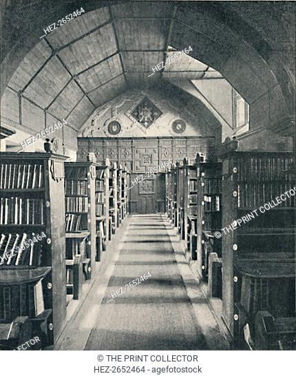 'Merton College Library', 1903. Merton College Library is one of the earliest libraries in England and the oldest academic library in the world still in...