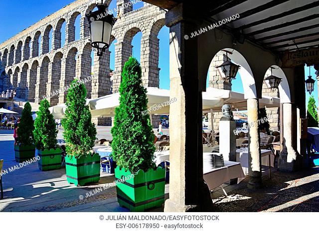 Aqueduct of Segovia, Castilla Leon, Spain