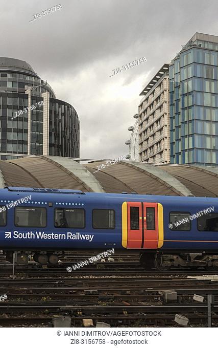 South Western Railway train at Waterloo Station, London, UK