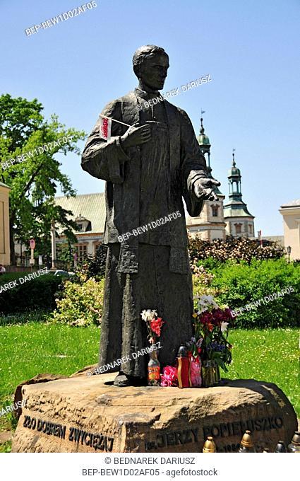 Statue of priest Jerzy Popieluszko. Kielce, swietokrzyskie Voivodeship, Poland