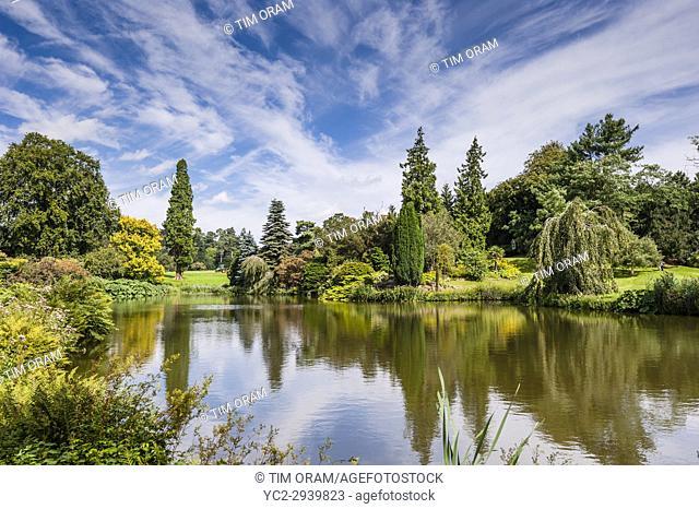 A lake at Sandringham House at Sandringham Estate in Norfolk , England , Britain , Uk