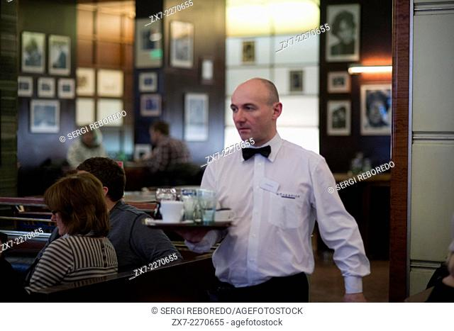 Coffee Slavia. In front of the National Theatre, on the corner of Narodni street and Smetana, there is a traditional coffee time