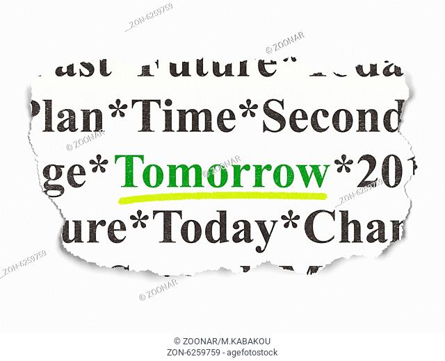Timeline concept: Tomorrow on Paper background