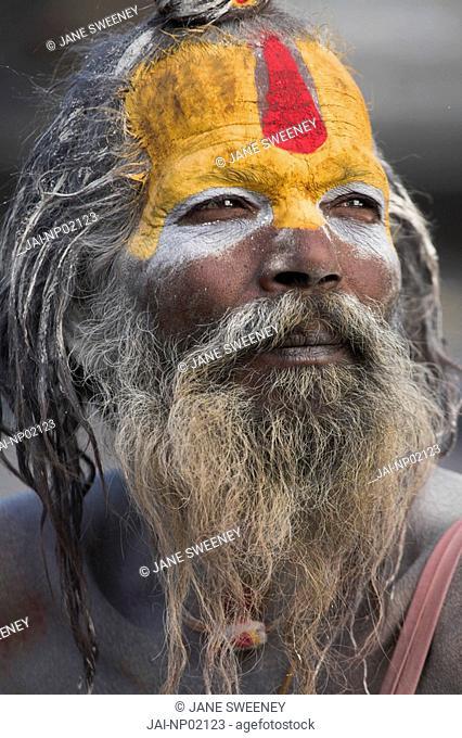 Nepal, Kathmandu, Pashupatinath Temple, Shivaratri festival, Sadhu Holy man