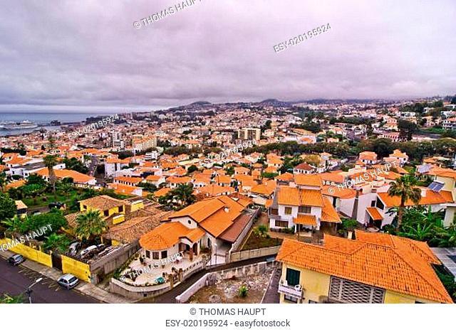 Anichten von Funchal auf Madeira