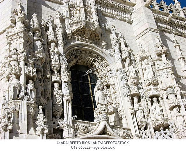 South façade, Monastery of the Hieronymites. Lisbon. Portugal