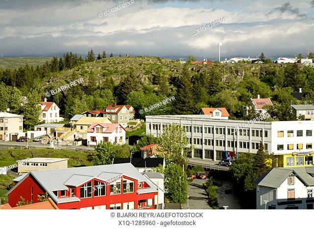 View over Hafnarfjordur, Iceland