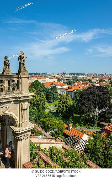 View from Zahrady Gardens, Prague, Czech Republic