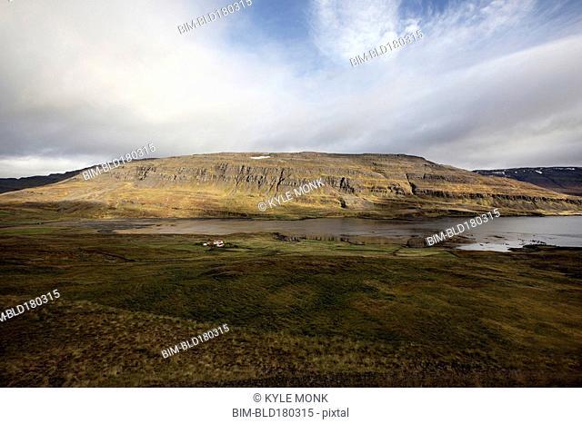 Hills in remote landscape