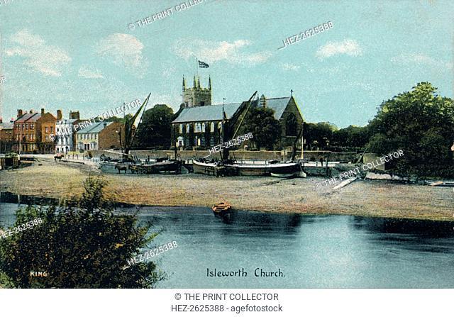 Isleworth Church, London, c1905. Artist: Unknown